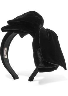 Miu Miu Bow-embellished Cotton-velvet Headband