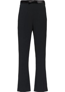 Miu Miu bow waistband cropped trousers