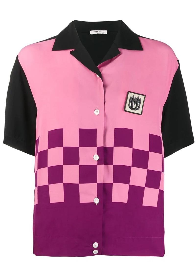 Miu Miu bowling shirt
