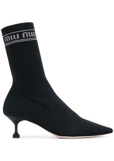 Miu Miu branded sock boots
