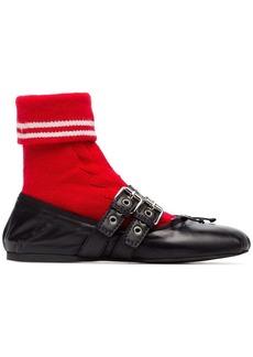 Miu Miu buckled sock ballerina flats