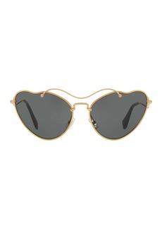 Miu Miu Butterfly 55mm Metal Frame Sunglasses