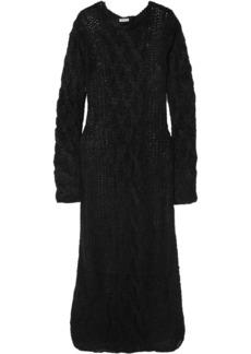 Miu Miu Cable-knit Mohair-blend Maxi Dress