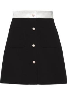 Miu Miu cady A-line skirt