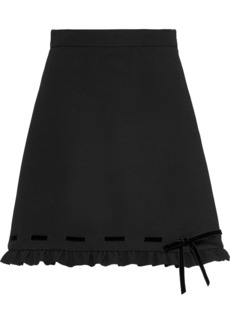 Miu Miu cady and velvet skirt