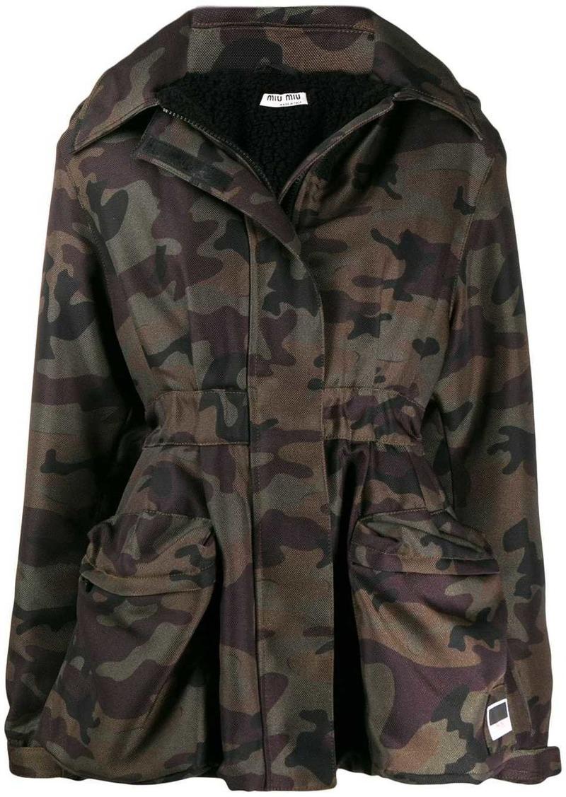 Miu Miu camouflage print jacket