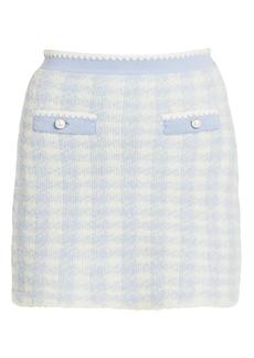 Miu Miu Cashmere & Silk Boucle Knit Mini Skirt