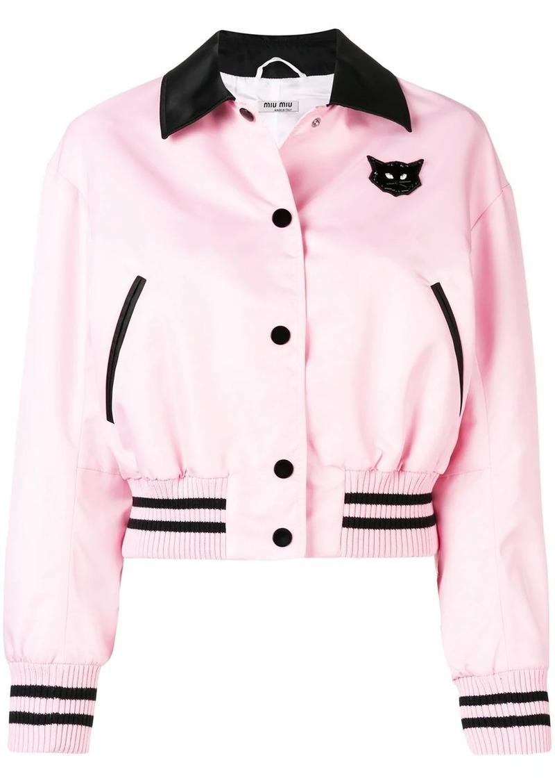 Miu Miu Cat bomber jacket