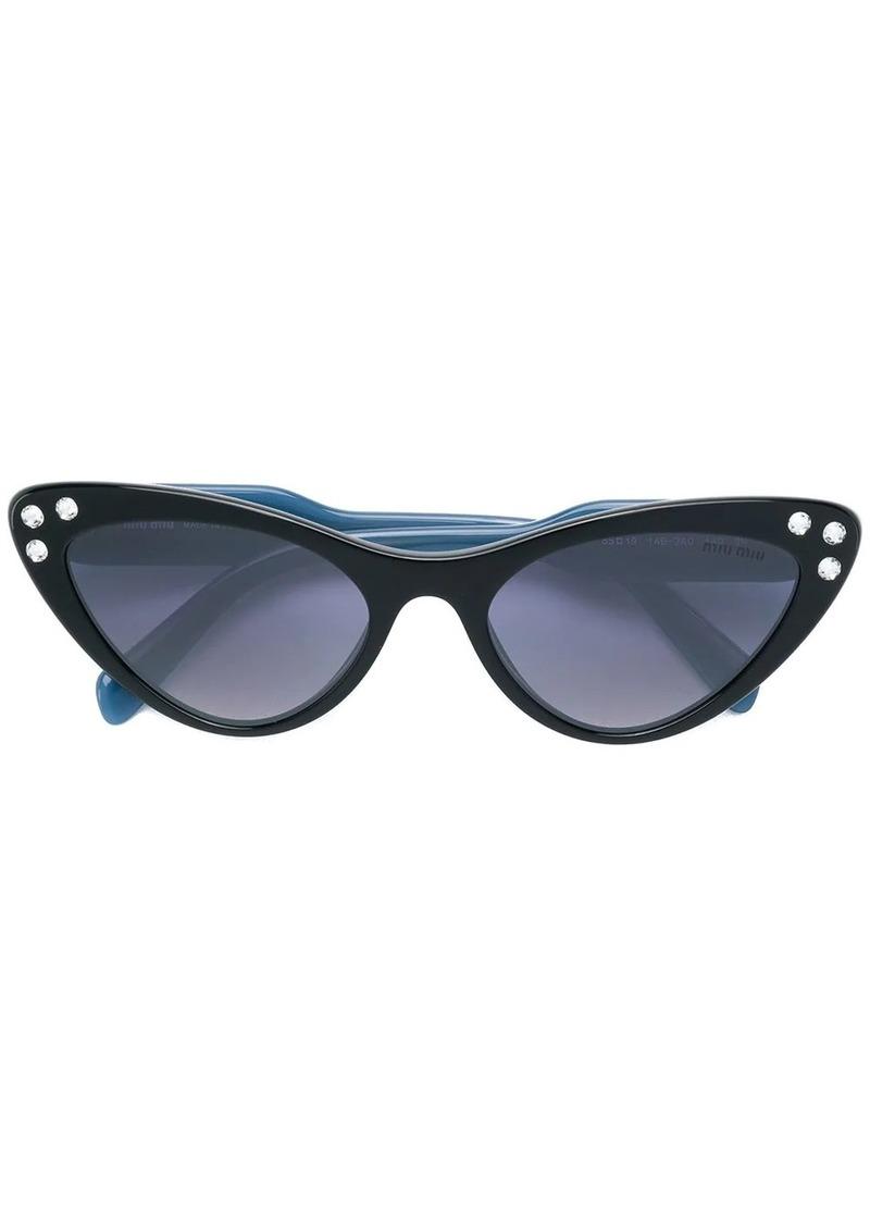 Miu Miu cat-eye crystal sunglasses