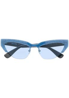 d6d2df9e5975 Miu Miu Miu Miu Round Imitation Pearl Sunglasses