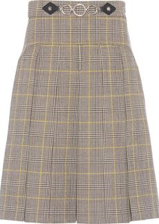 Miu Miu chain detail check skirt