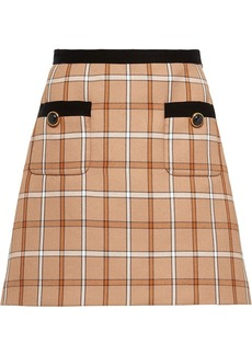 Miu Miu check A-line mini skirt