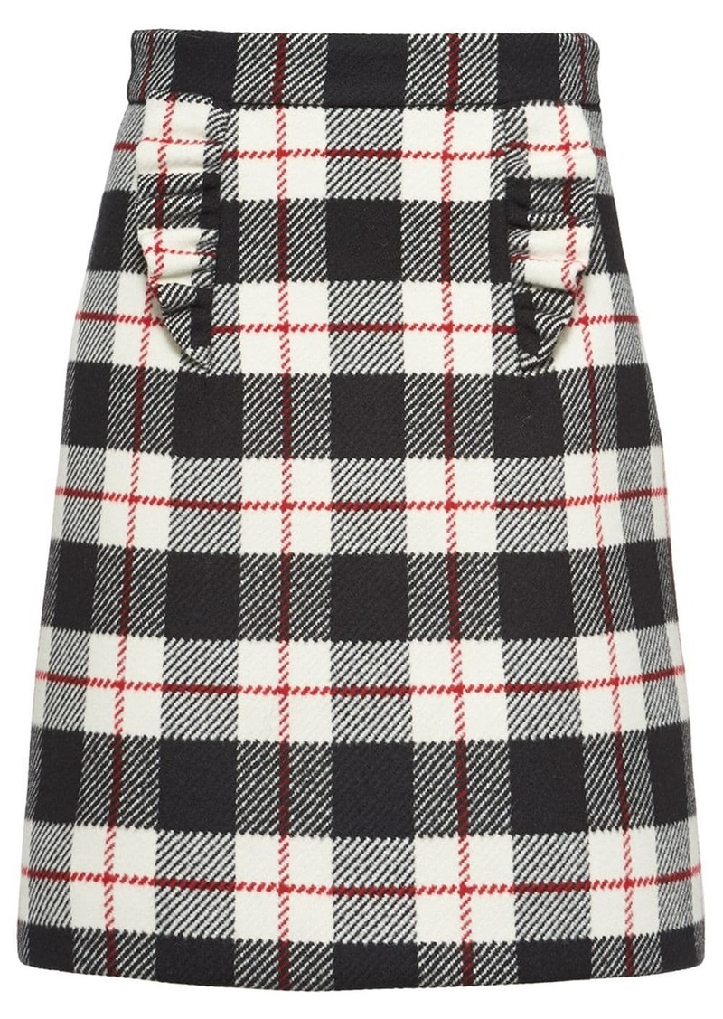Miu Miu check A-line skirt