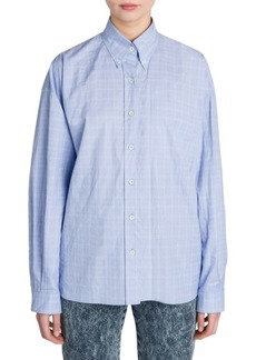 Miu Miu Check Button-Down Shirt