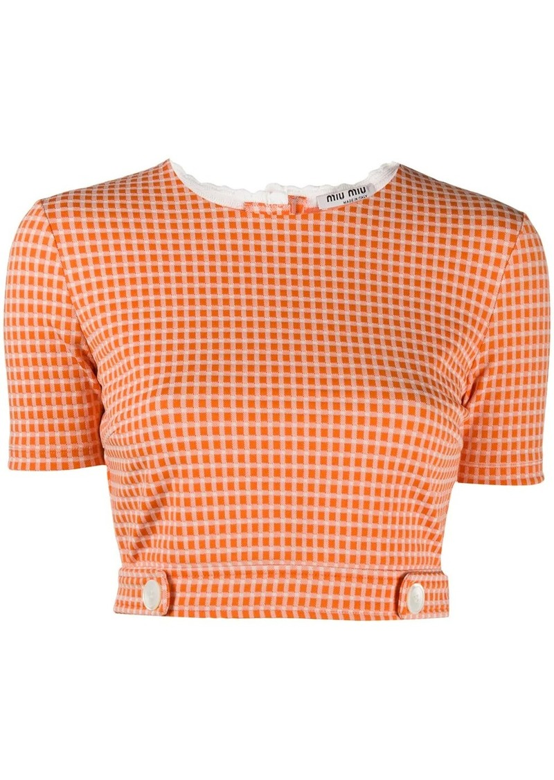Miu Miu check crop top