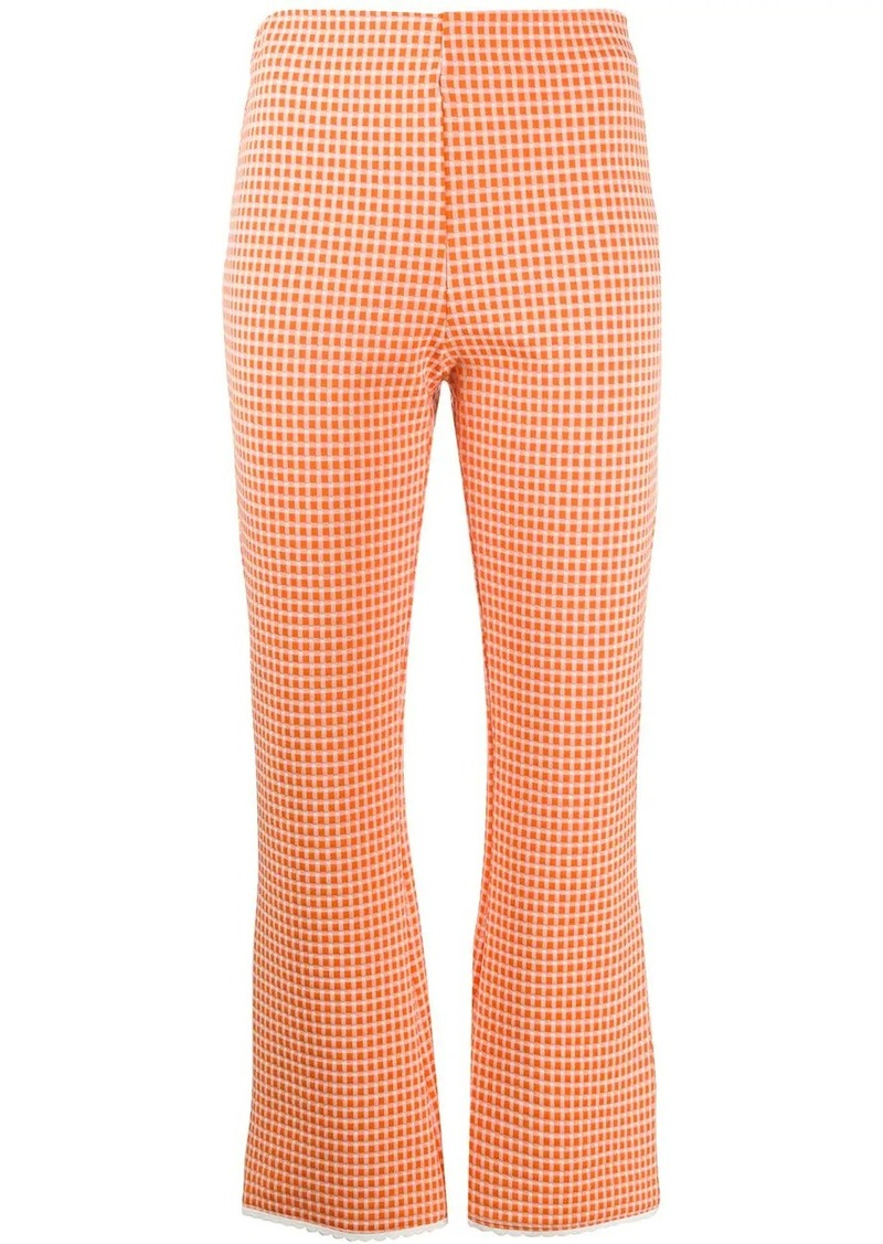Miu Miu checked cropped trousers