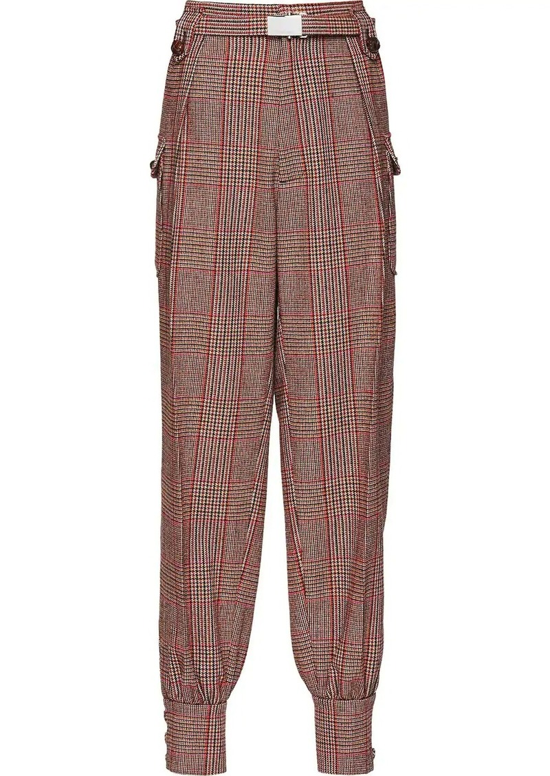 Miu Miu checked tapered trousers
