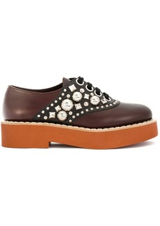 Miu Miu chunky embellished two-tone derby shoes