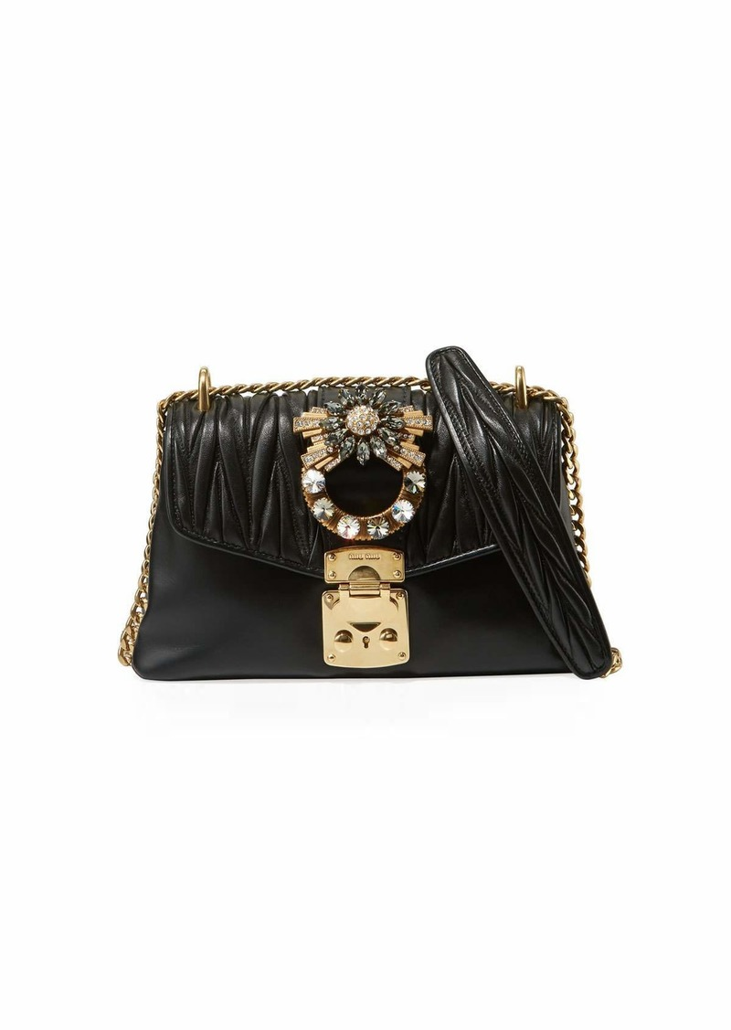 e6f551227cae Miu Miu Coffer Jeweled Quilted Leather Shoulder Bag