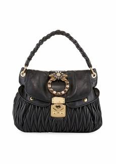 Miu Miu Coffer Matelasse Top Handle Bag