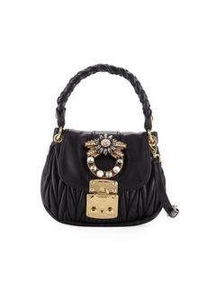 Miu Miu Coffer Micro Mini Matelasse Top-Handle Satchel Bag