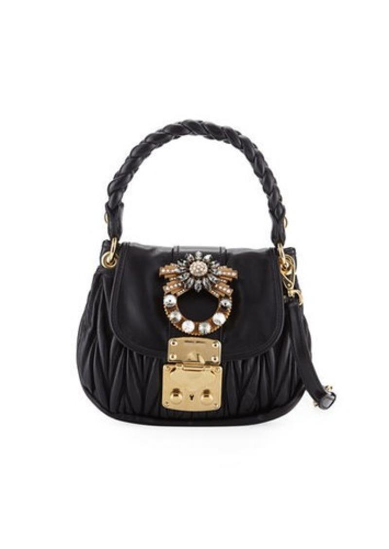 538891cce161 Miu Miu Coffer Micro Mini Matelasse Top-Handle Satchel Bag