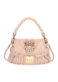 Miu Miu Coffer Small Matelasse Leather Top-Handle Satchel Bag