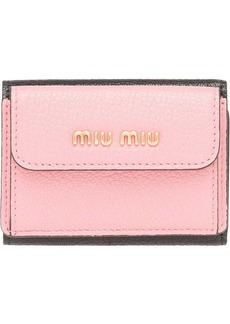 Miu Miu colour block billfold wallet