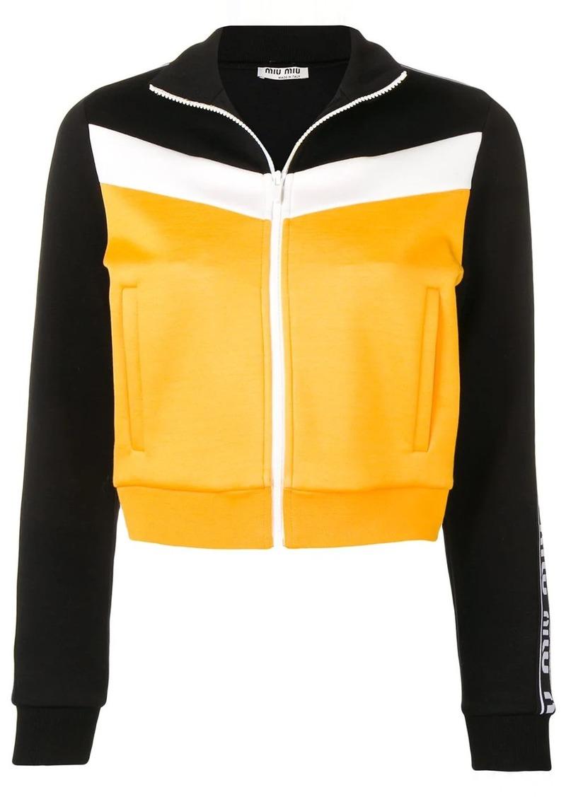 Miu Miu colour block jacket
