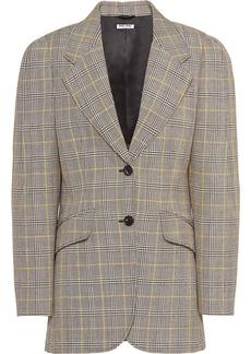 Miu Miu compact Prince of Wales check blazer