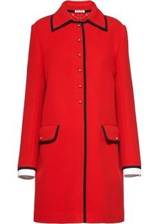 Miu Miu contrast trim coat