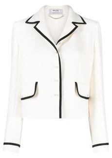 Miu Miu contrast-trim knitted jacket