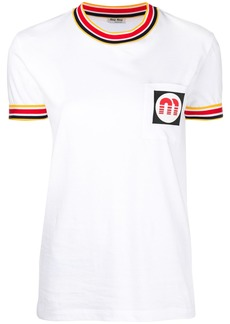 Miu Miu contrast trim T-shirt