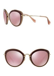 Miu Miu Core Collection Steel 54mm Cat Eye Sunglasses