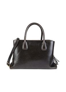 Miu Miu Crackled Leather Satchel