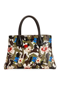 Miu Miu Craquelest Fiori Camo Top-Handle Bag