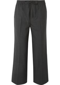 Miu Miu Cropped Checked Wool Pants
