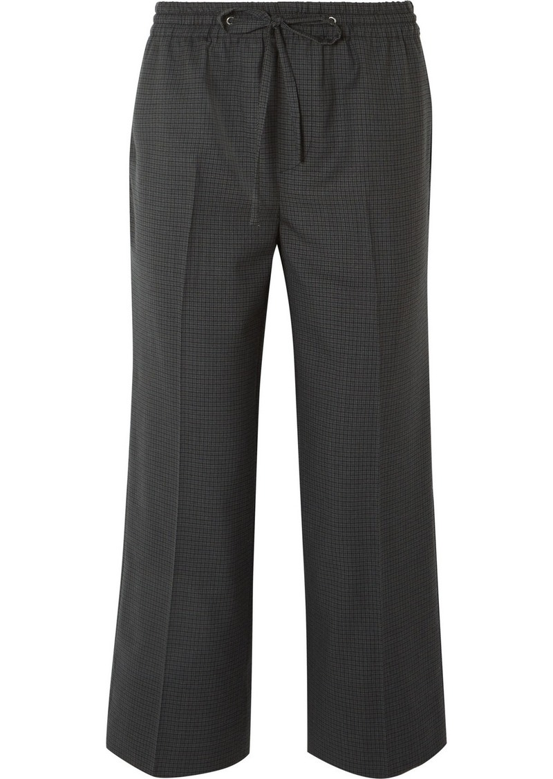 Miu Miu Cropped Checked Wool Pants