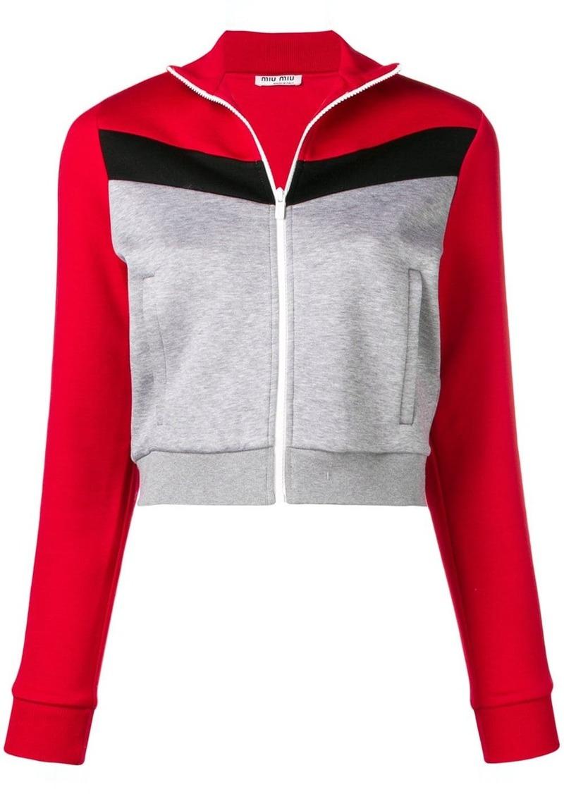Miu Miu cropped jersey jacket