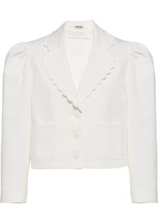 Miu Miu cropped puff-sleeve blazer