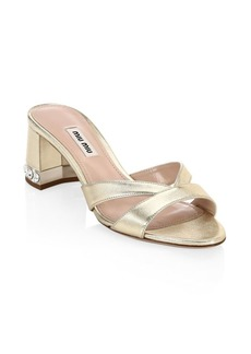 Crystal Block-Heel Sandals