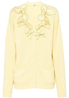 Miu Miu crystal bow-embellished cardigan