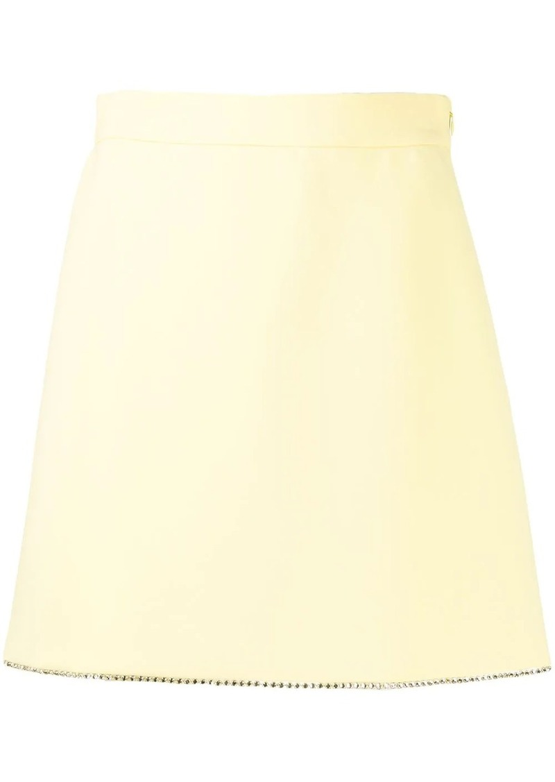 Miu Miu crystal embellished A-line skirt