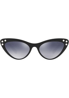 Miu Miu crystal embellished cat eye sunglasses