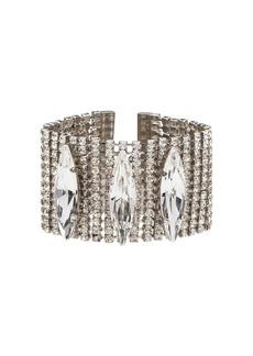 Miu Miu crystal embellished cuff bracelet