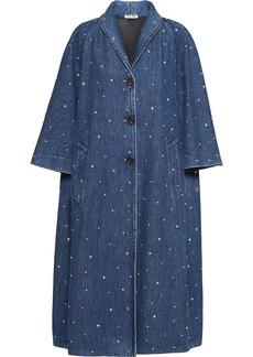 Miu Miu crystal-embellished denim coat