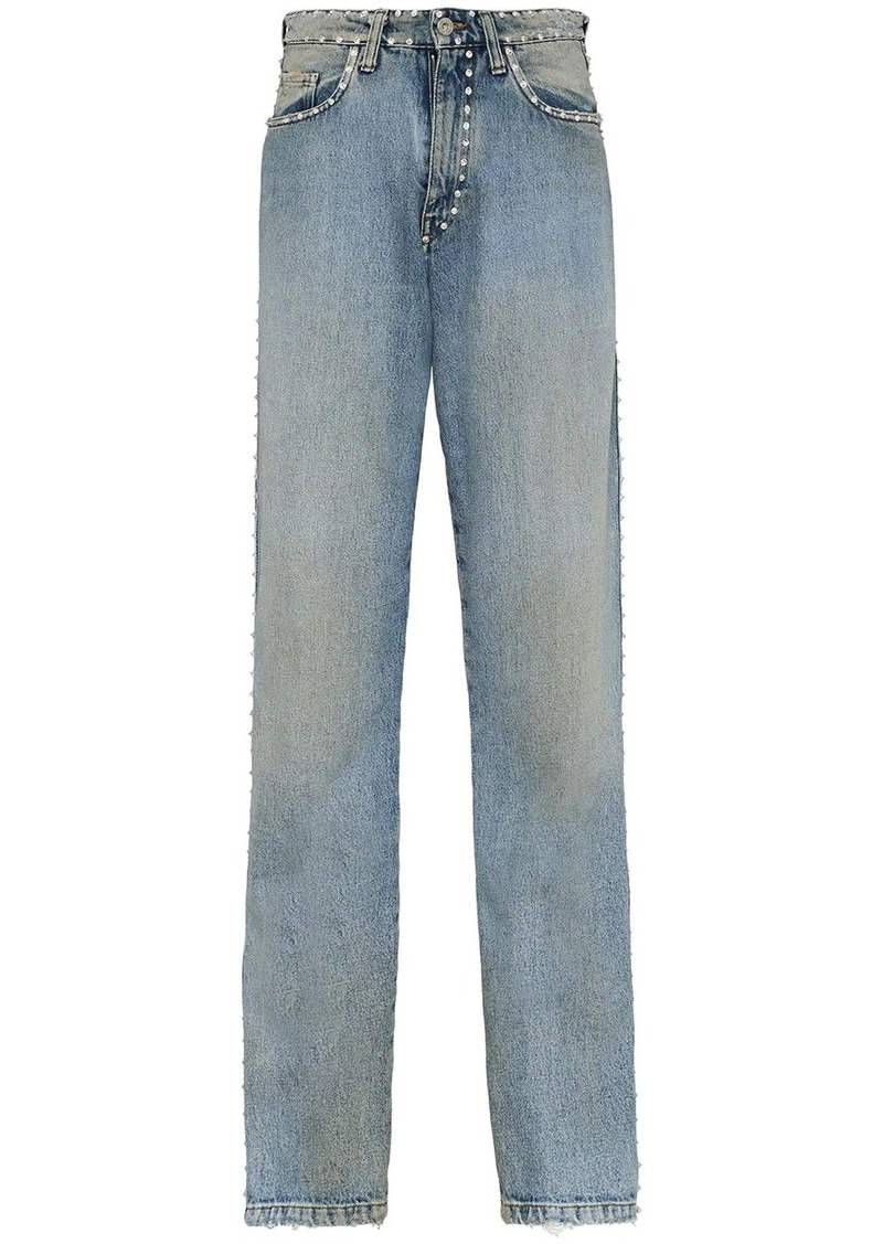 Miu Miu embellished slim jeans