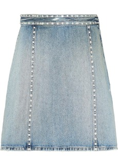 Miu Miu crystal embellished denim skirt