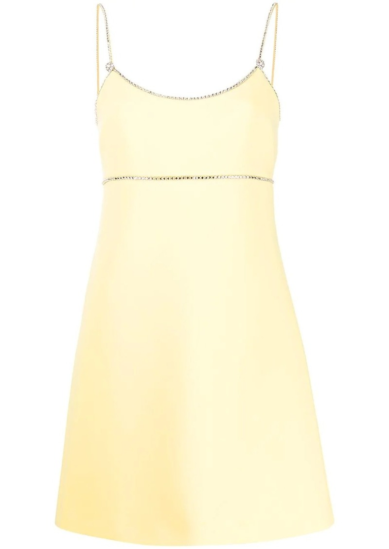 Miu Miu crystal embellished mini dress