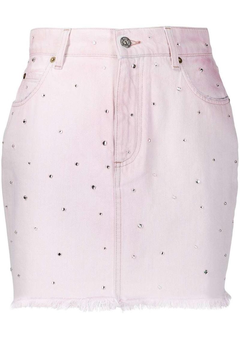 Miu Miu crystal-embellished mini skirt